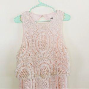 Eliza J Floor Length Crochet Dress